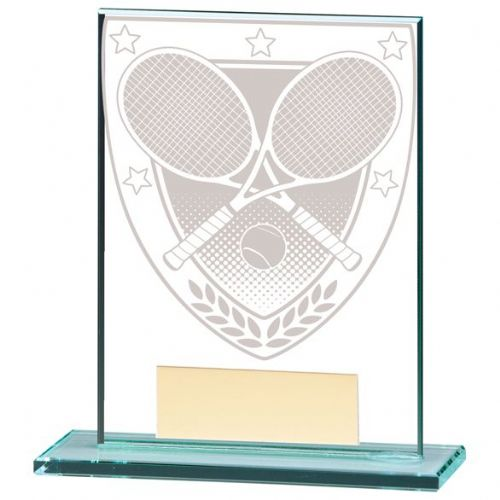 Millennium Tennis Jade Glass Award 110mm